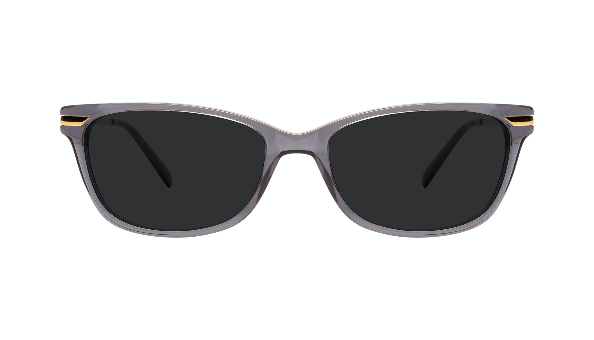 Affordable Fashion Glasses Rectangle Sunglasses Women Comet Plus Gold Shadow Front