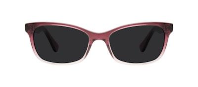 Affordable Fashion Glasses Cat Eye Rectangle Square Sunglasses Women Comet Diamond Rose Front