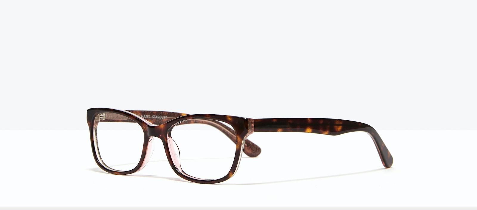 Affordable Fashion Glasses Rectangle Eyeglasses Women Comet II Hazel Stardust Tilt