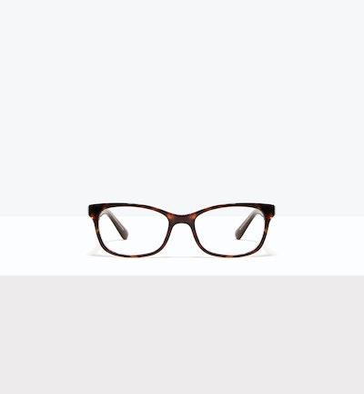 Affordable Fashion Glasses Rectangle Eyeglasses Women Comet II Hazel Stardust Front