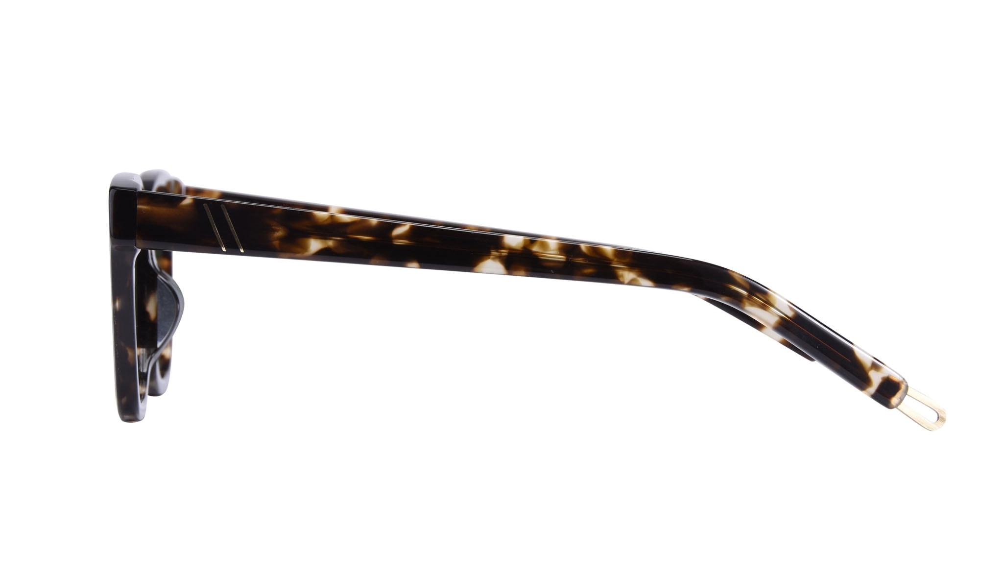 Affordable Fashion Glasses Square Sunglasses Men Commander Tortoise Side