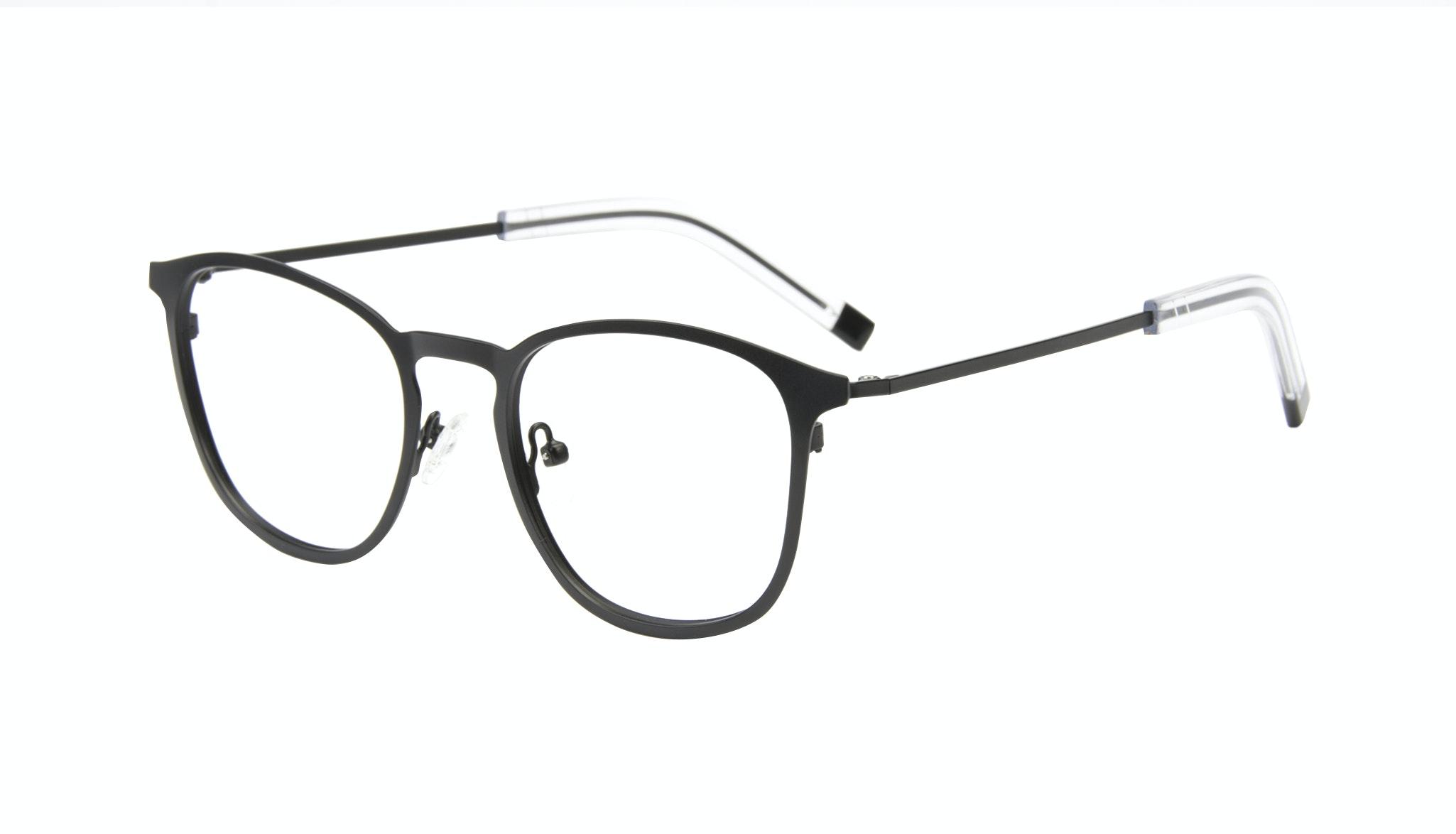 Affordable Fashion Glasses Rectangle Square Eyeglasses Men Core Matte Black Tilt
