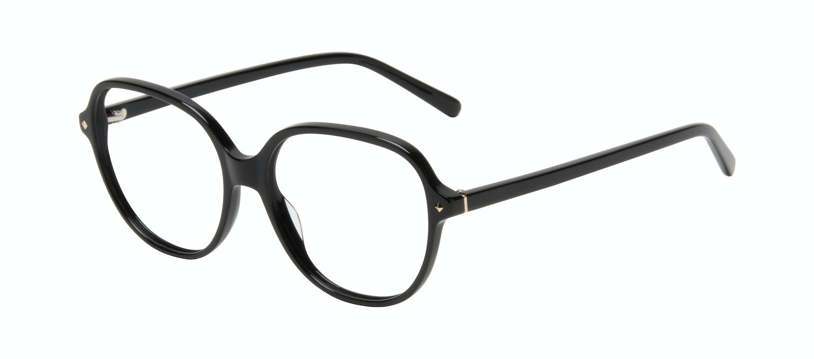 Affordable Fashion Glasses Round Eyeglasses Women Covet Onyx Tilt