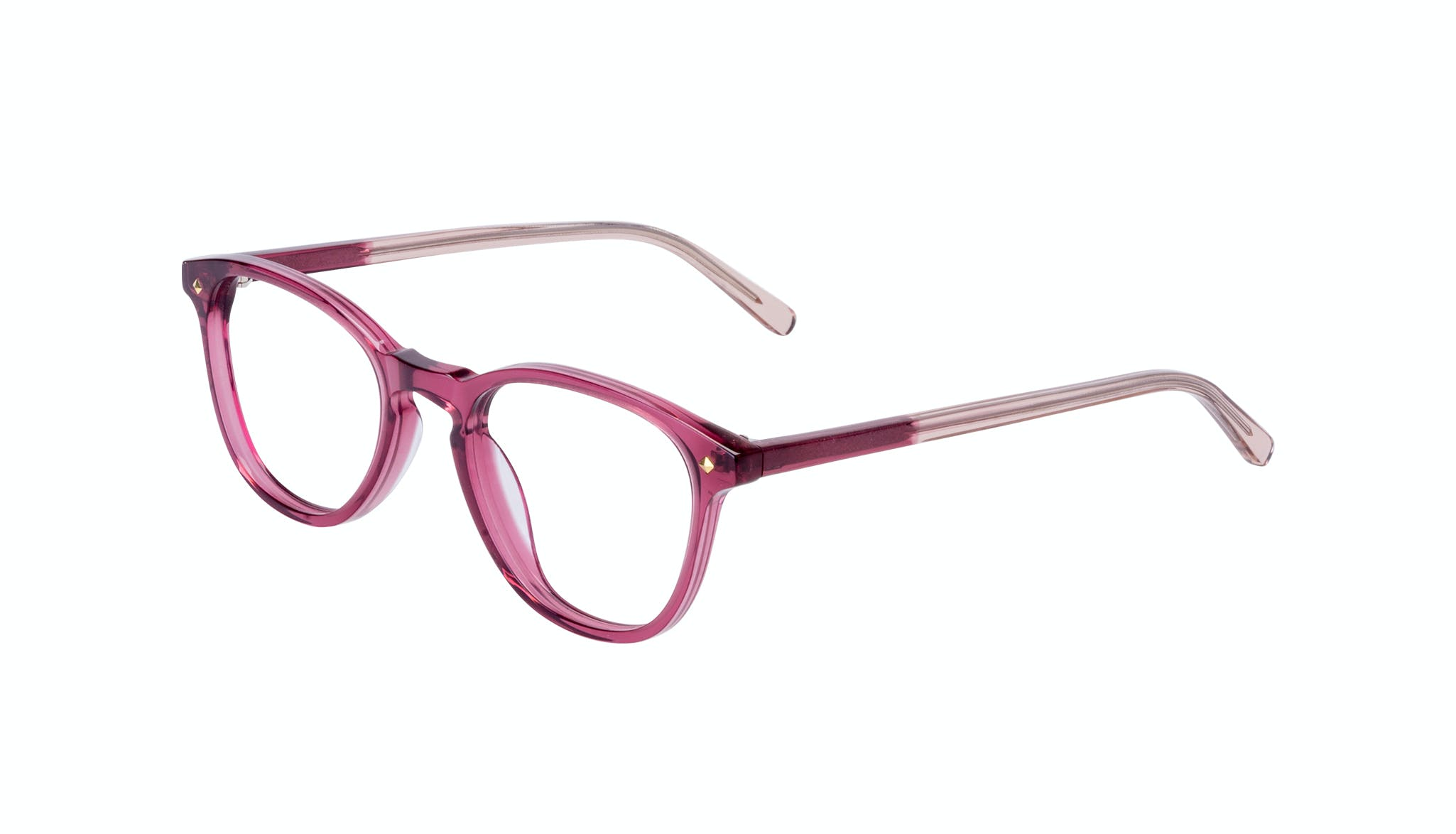 Affordable Fashion Glasses Round Eyeglasses Women Crush Berry Tilt