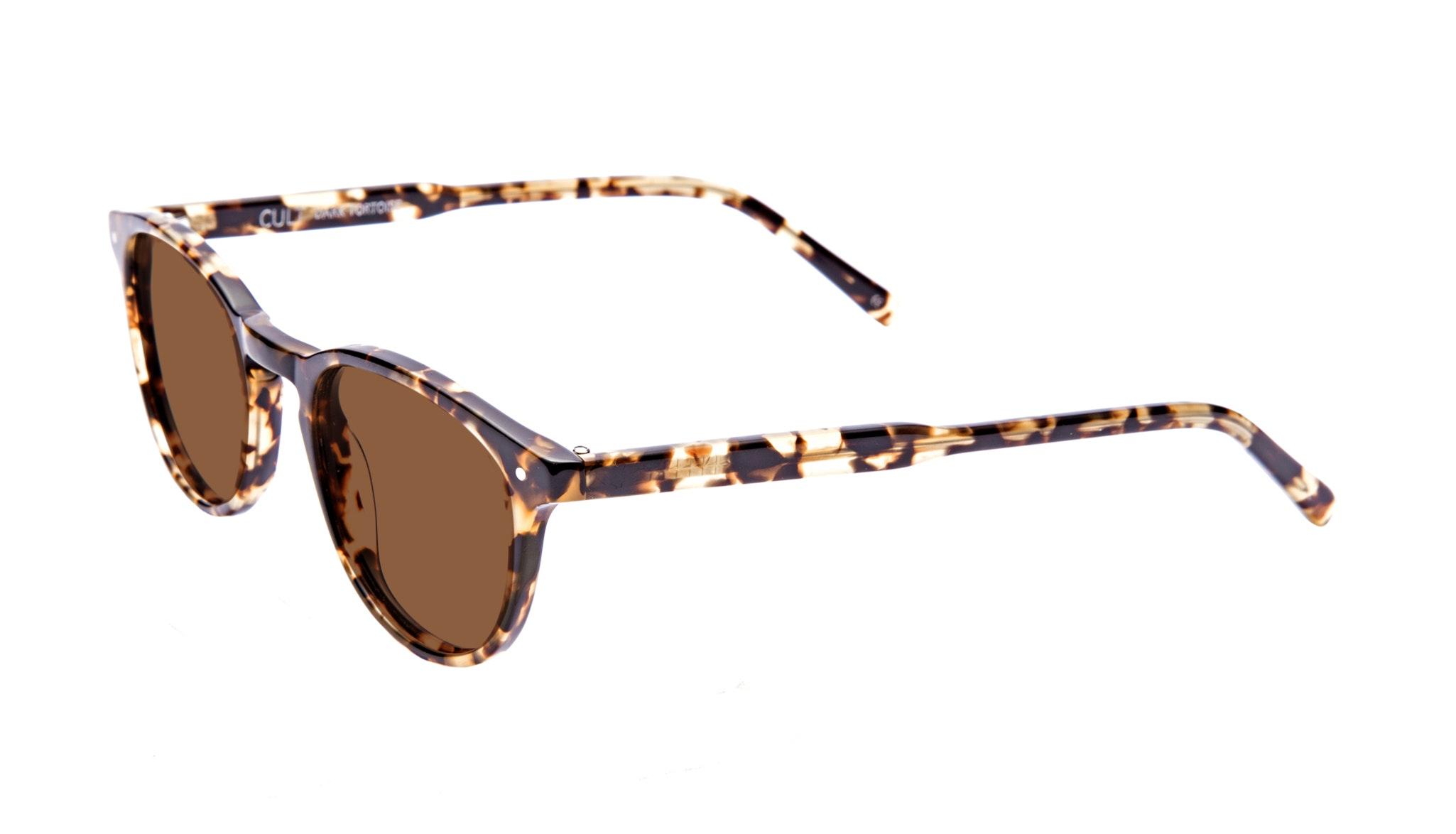 Affordable Fashion Glasses Round Sunglasses Men Cult Dark Tortoise Tilt