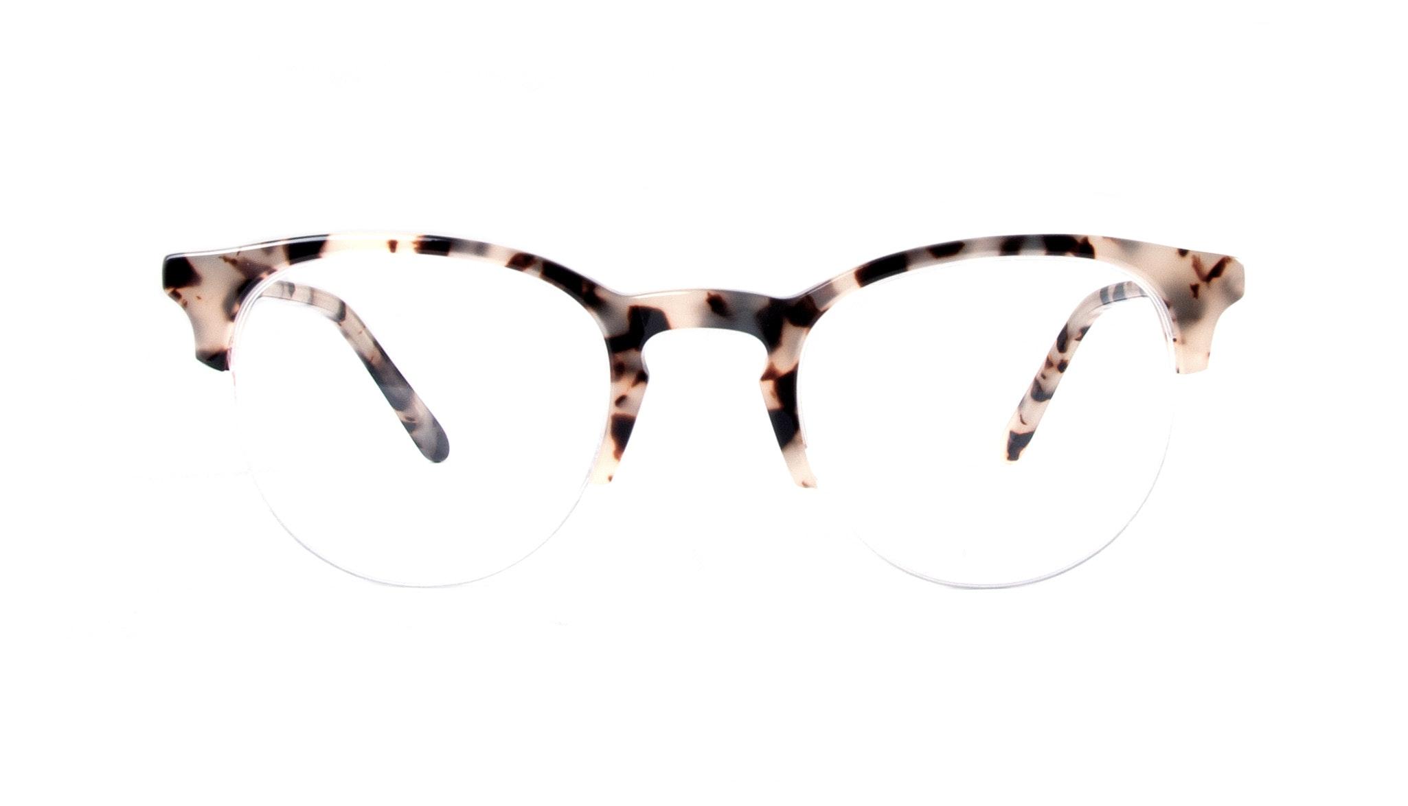 Affordable Fashion Glasses Round Semi-Rimless Eyeglasses Women Cult Light Granite Front