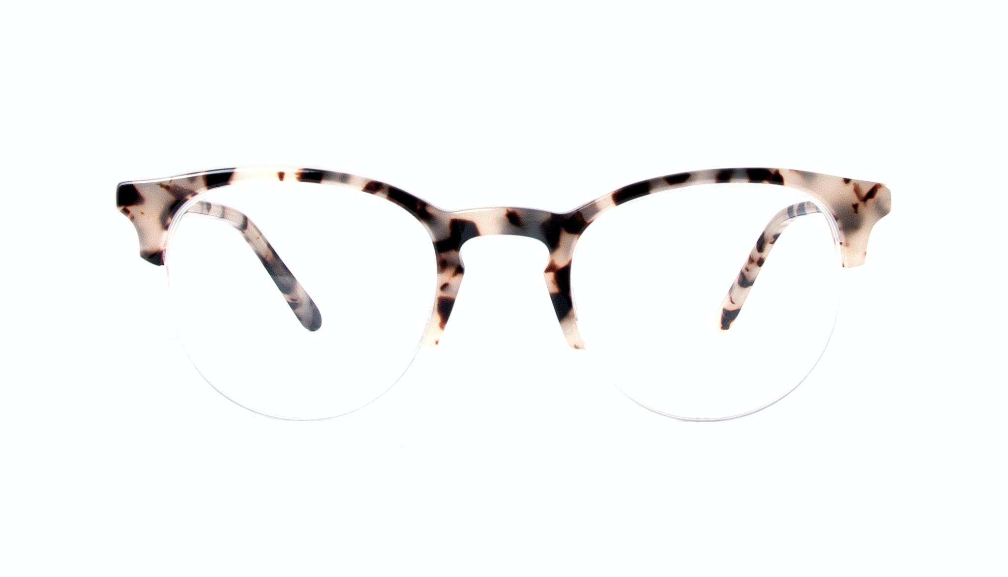 Affordable Fashion Glasses Round Semi-Rimless Eyeglasses Women Cult Light Granite