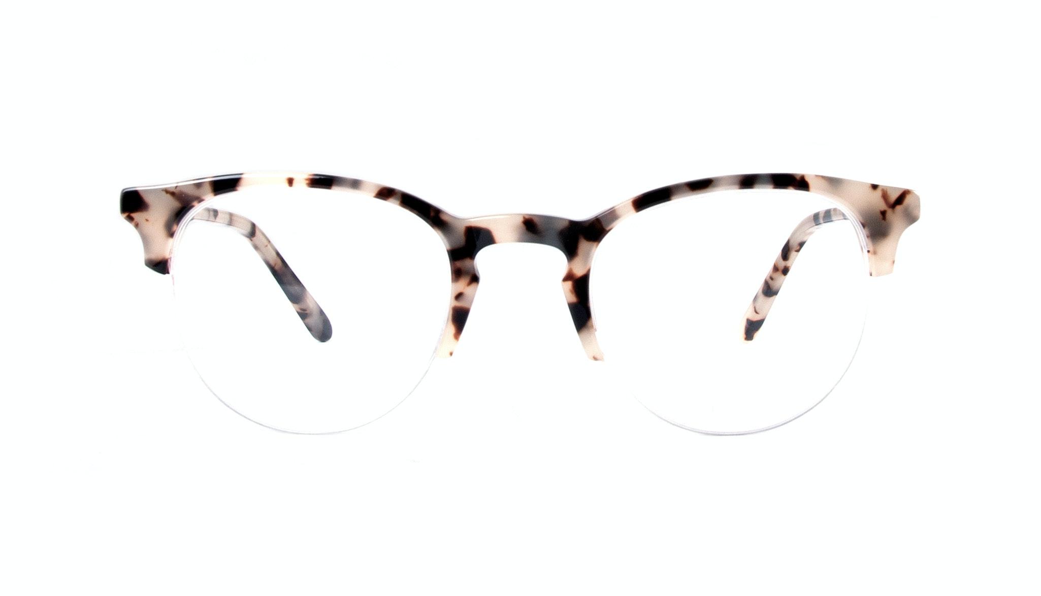 Affordable Fashion Glasses Round Semi-Rimless Eyeglasses Men Women Cult Light Granite Front