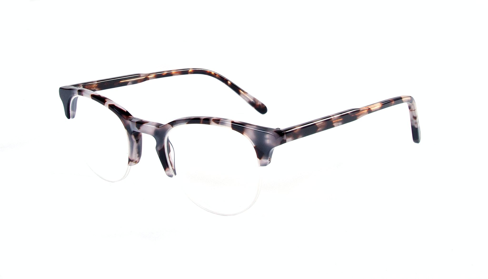 Affordable Fashion Glasses Round Semi-Rimless Eyeglasses Men Women Cult Light Mocha Tortoise Tilt