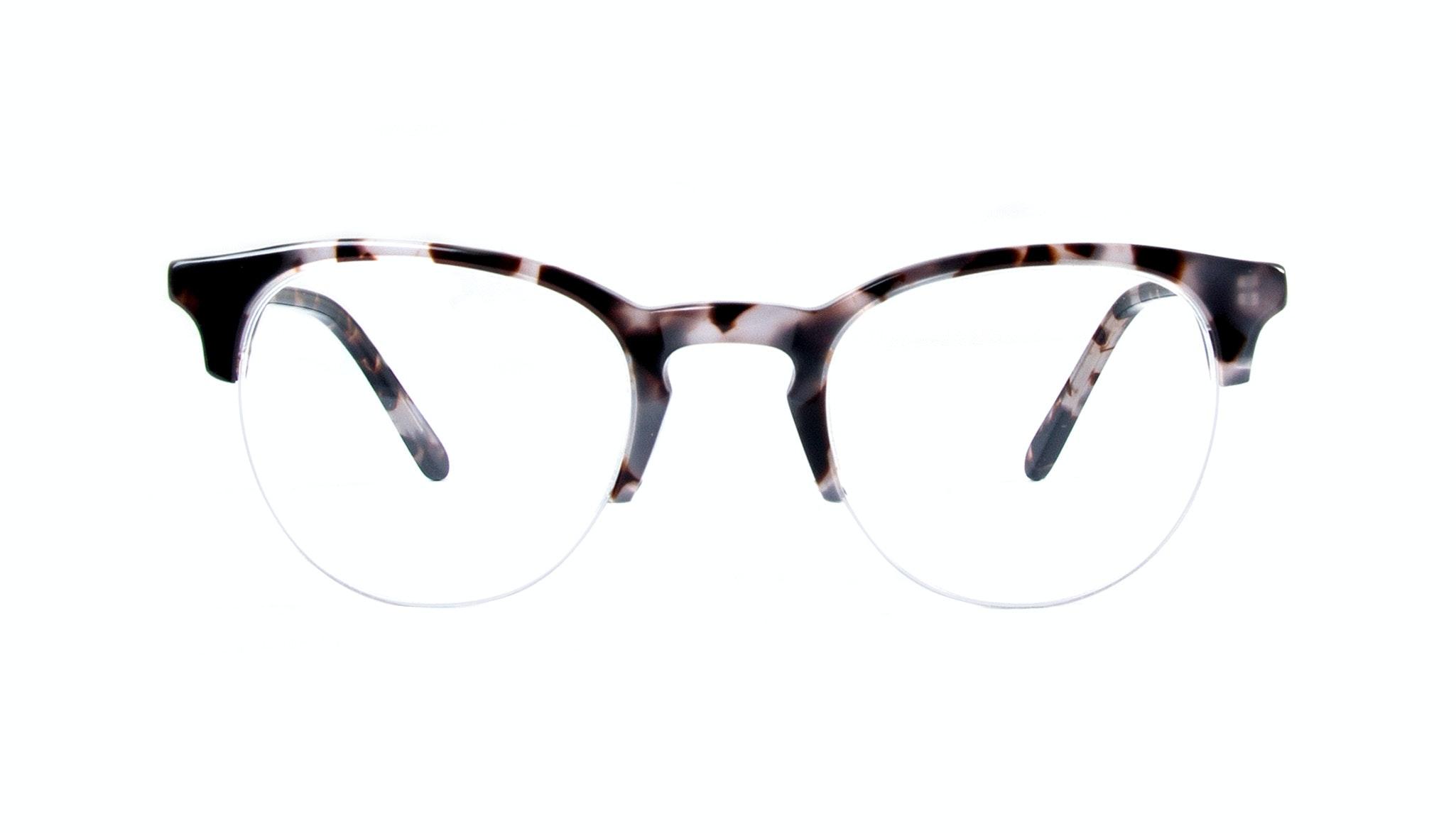 Affordable Fashion Glasses Round Semi-Rimless Eyeglasses Women Cult Light Mocha Tortoise Front