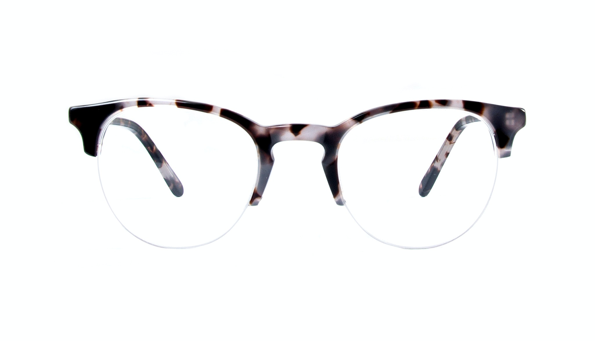 Affordable Fashion Glasses Round Semi-Rimless Eyeglasses Women Cult Light Mocha Tortoise