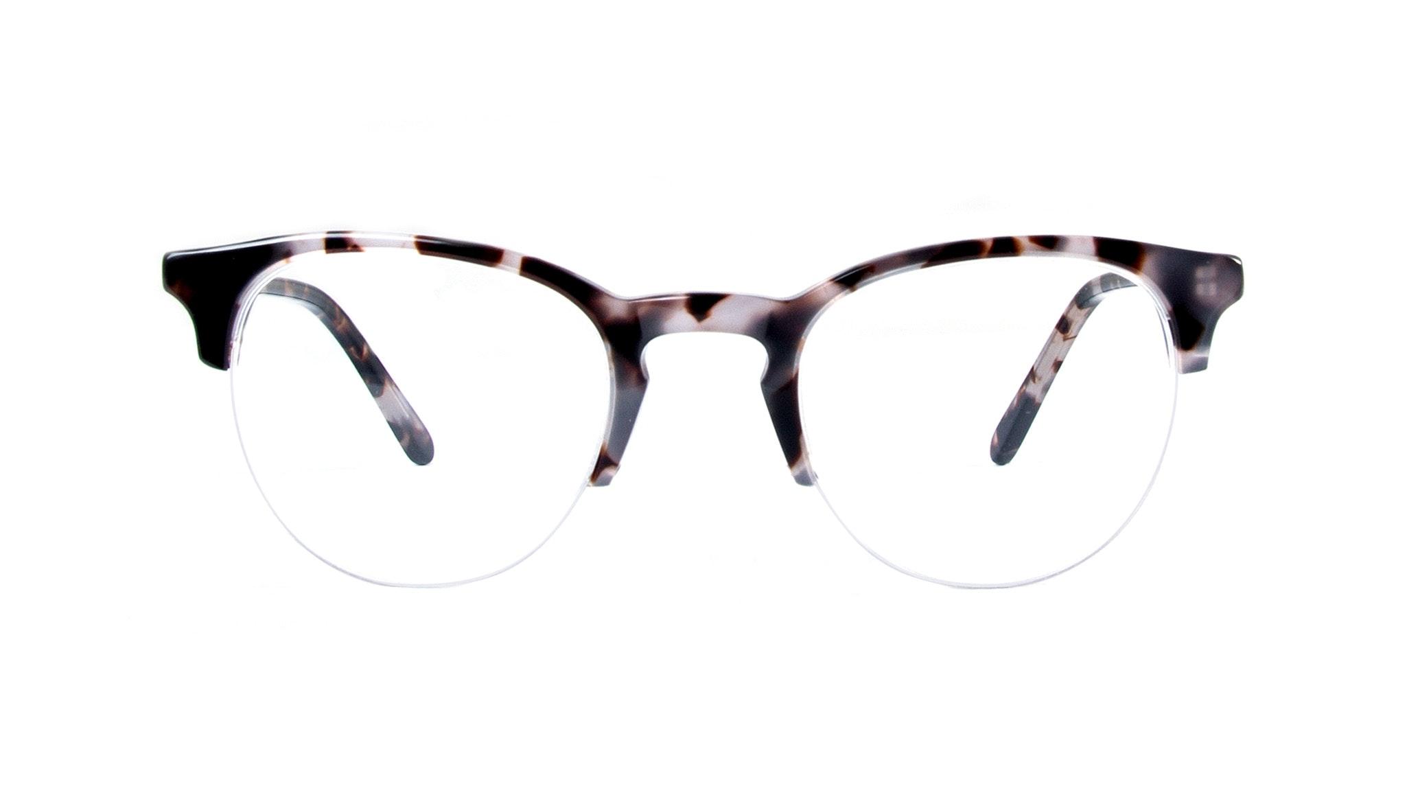 Affordable Fashion Glasses Round Semi-Rimless Eyeglasses Men Women Cult Light Mocha Tortoise Front