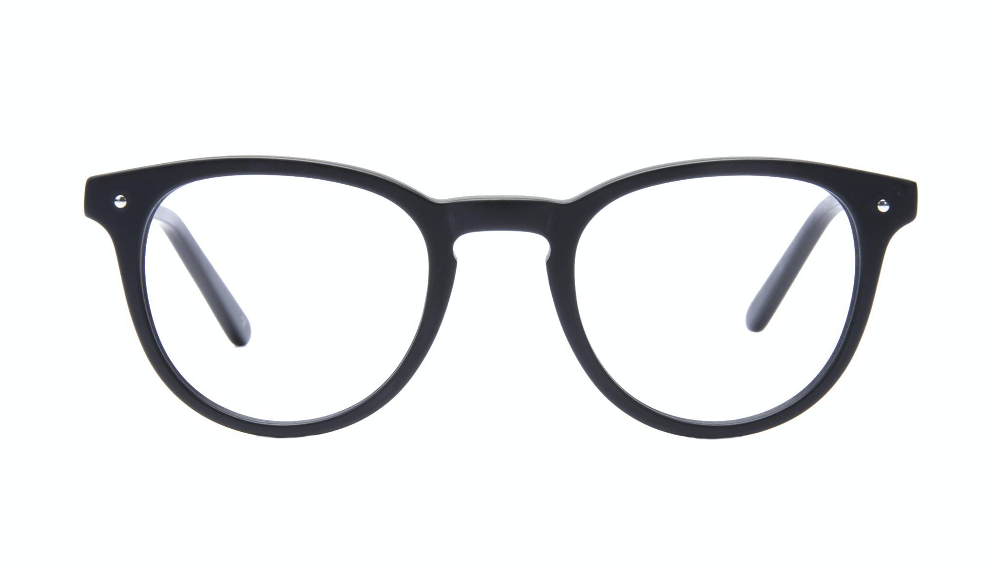 Affordable Fashion Glasses Round Eyeglasses Men Cult Matt Black Front