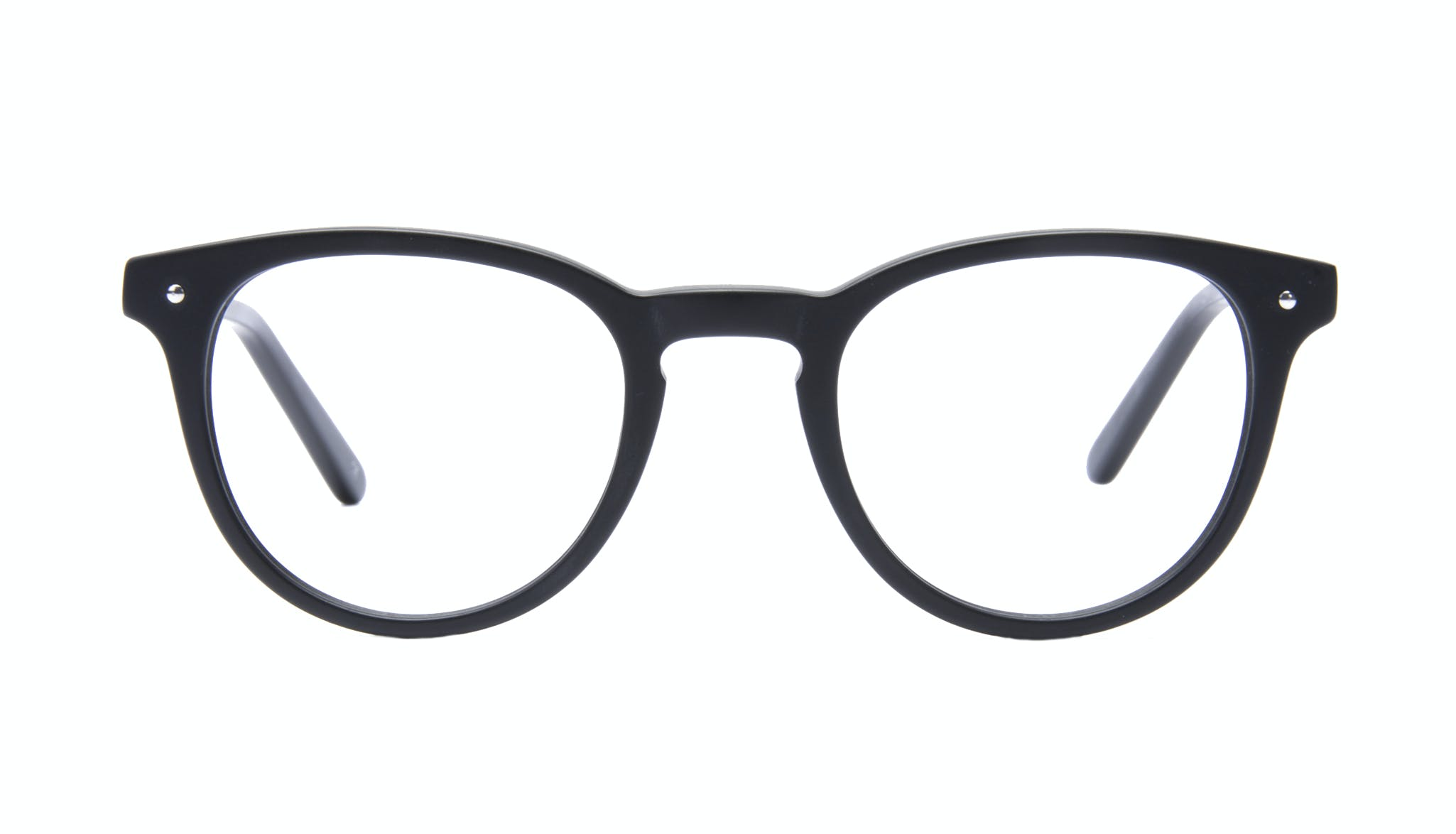 Affordable Fashion Glasses Round Eyeglasses Men Cult Matte Black Front