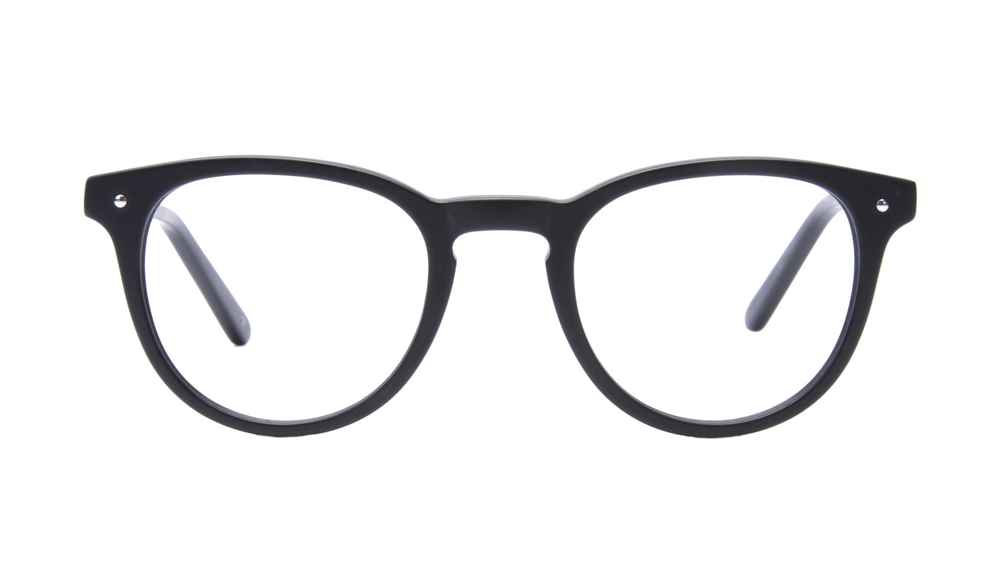 Affordable Fashion Glasses Round Eyeglasses Men Cult Matte Black Front