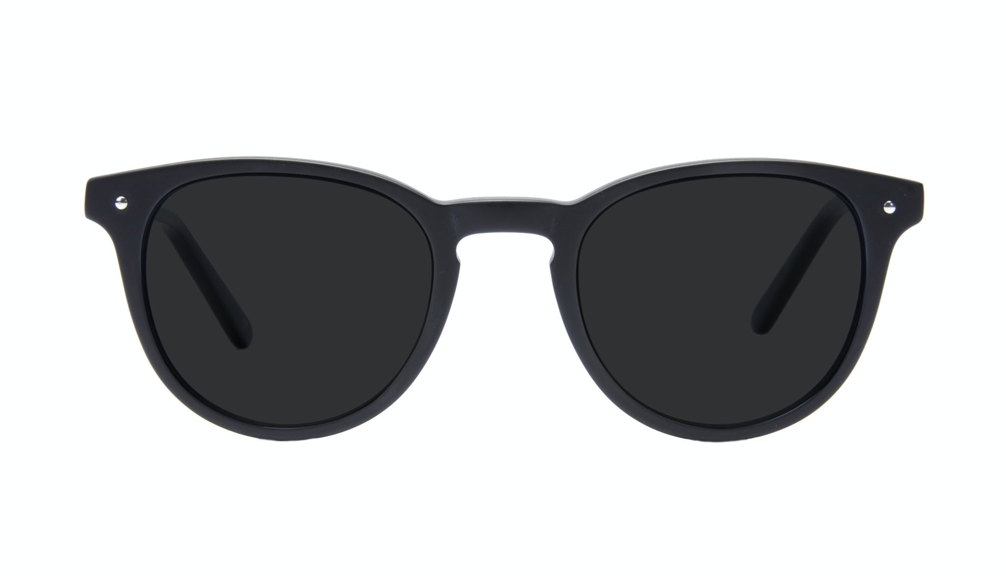 Affordable Fashion Glasses Round Sunglasses Men Cult Matte Black Front