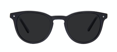 Affordable Fashion Glasses Round Sunglasses Men Cult Matte Black Front