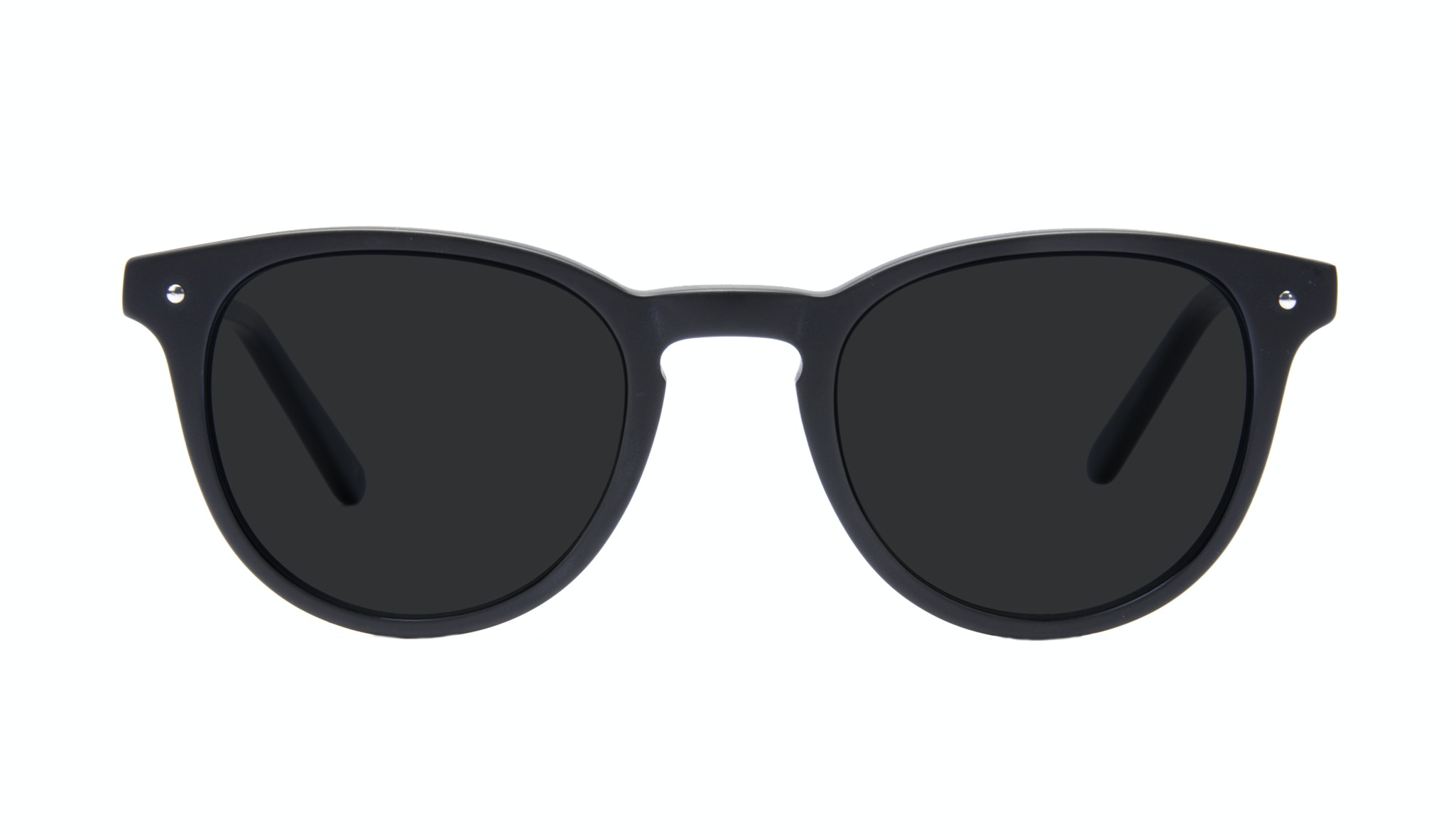 Affordable Fashion Glasses Round Sunglasses Men Cult Matt Black