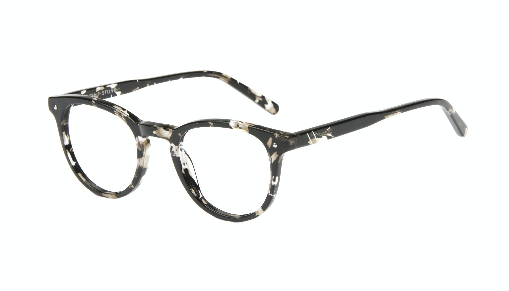 Affordable Fashion Glasses Round Eyeglasses Men Cult Stone Tilt