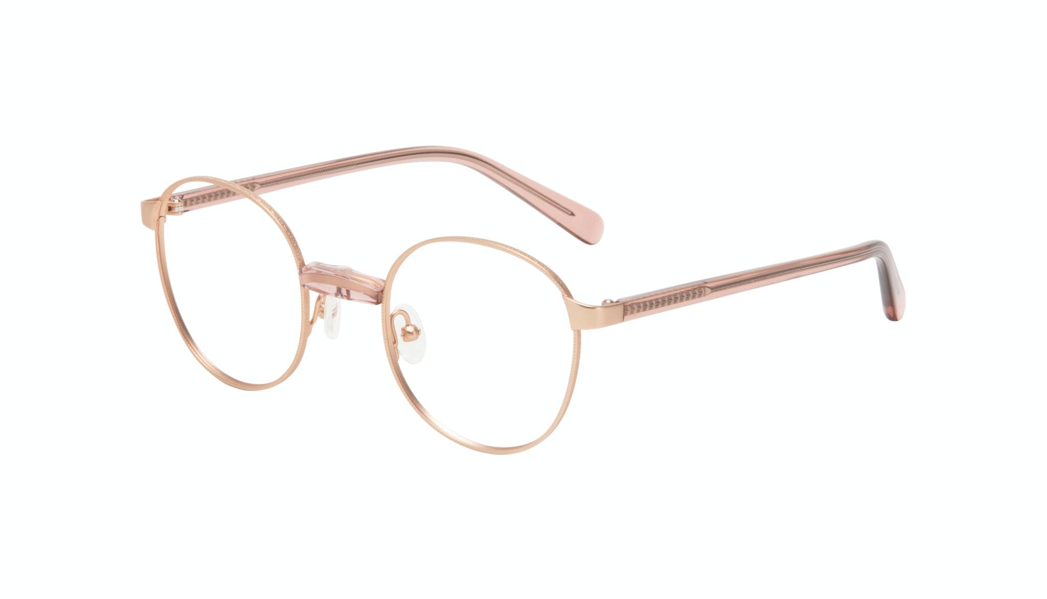 Affordable Fashion Glasses Round Eyeglasses Women Curious Rose Tilt