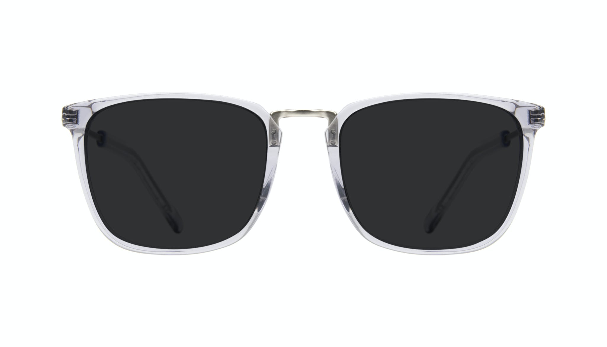 Affordable Fashion Glasses Rectangle Square Sunglasses Men Current Steel Front