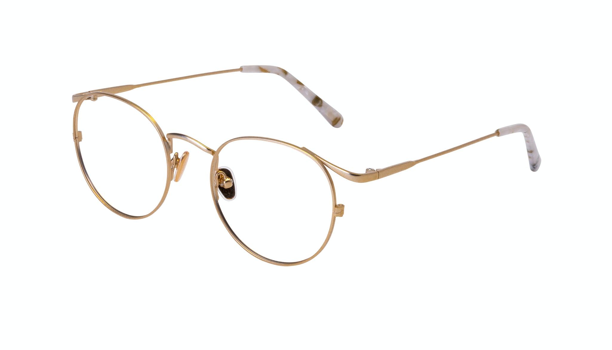 Affordable Fashion Glasses Round Eyeglasses Women Curve Gold Tilt