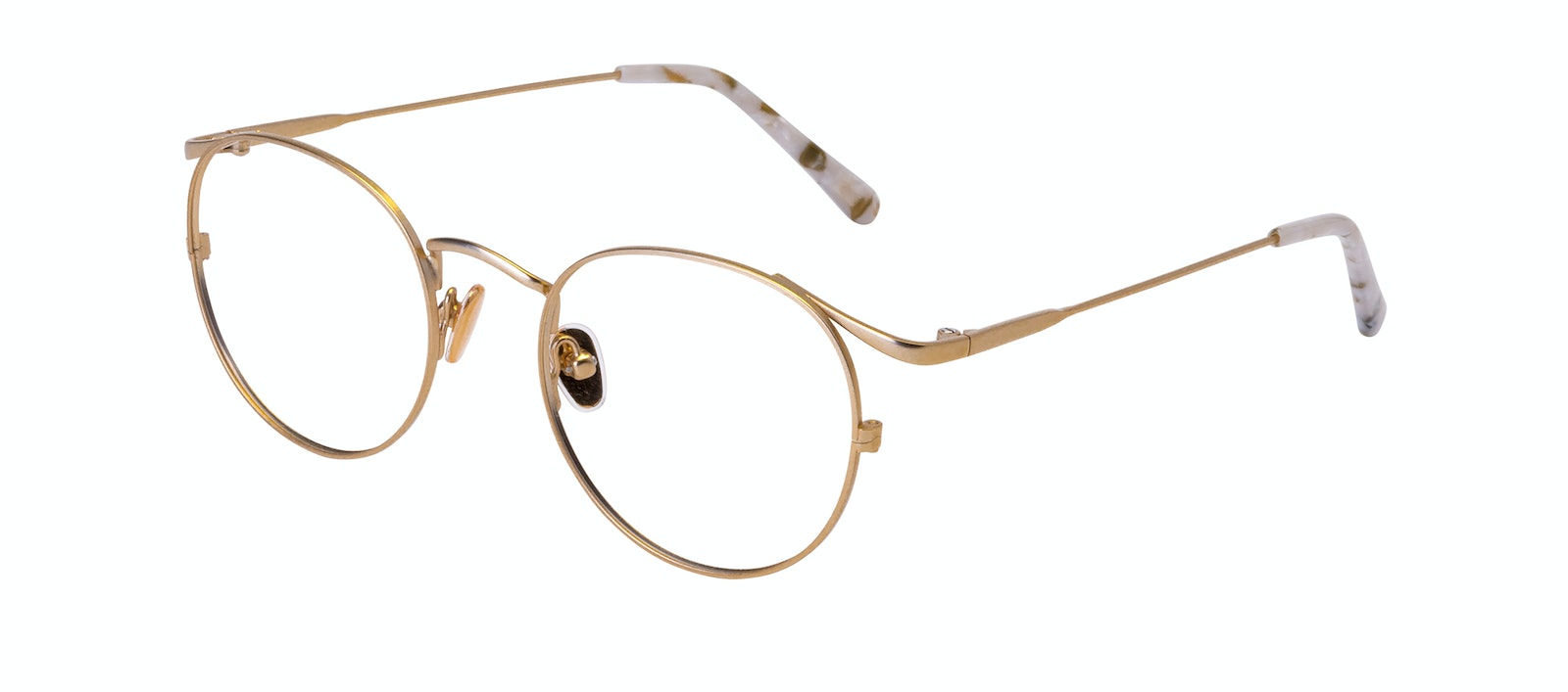 Affordable Fashion Glasses Round Eyeglasses Women Curve Gold Tilt