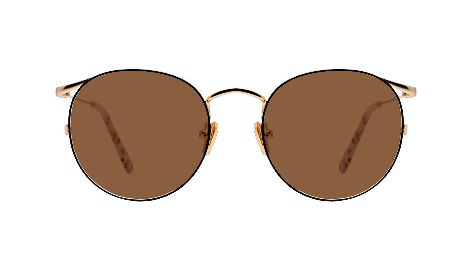Affordable Fashion Glasses Round Sunglasses Women Curve Deep Gold