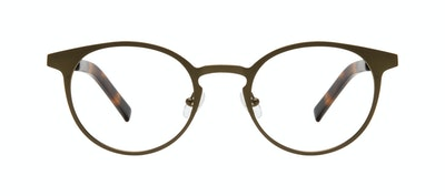 Affordable Fashion Glasses Round Eyeglasses Men Cut Khaki Front