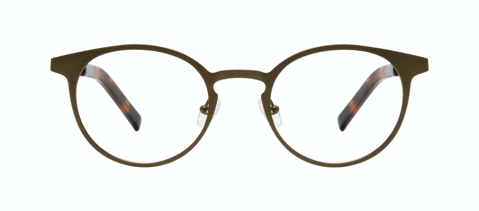 Affordable Fashion Glasses Round Eyeglasses Men Cut Khaki Front