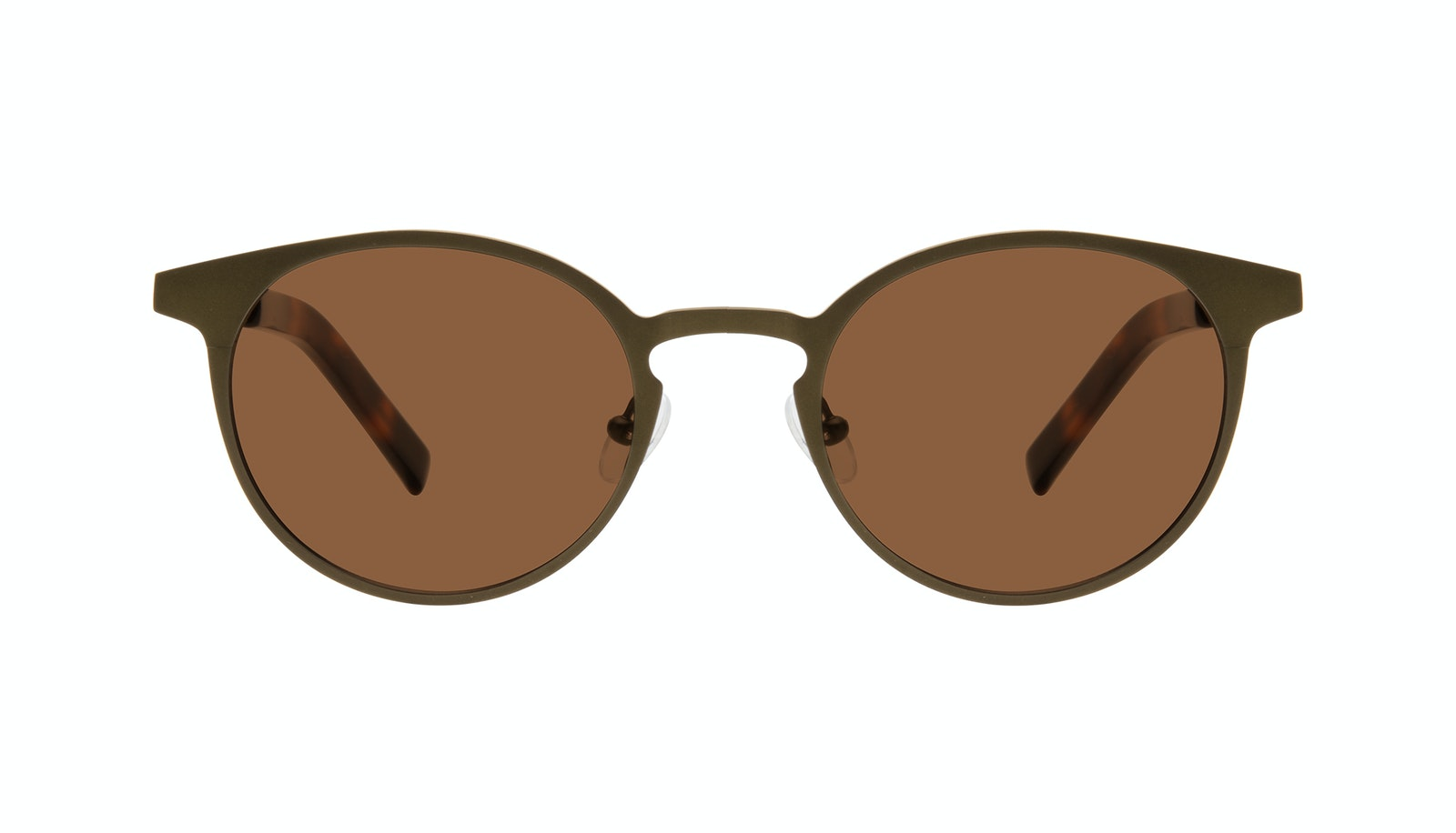 Affordable Fashion Glasses Round Sunglasses Men Cut Khaki