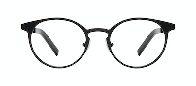 Affordable Fashion Glasses Round Eyeglasses Men Cut Onyx Matte Front