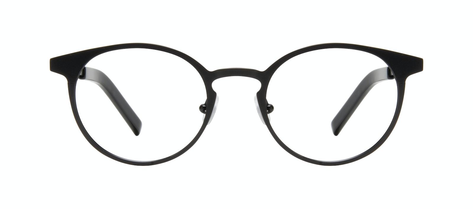 Affordable Fashion Glasses Round Eyeglasses Men Cut Onyx Matte Front