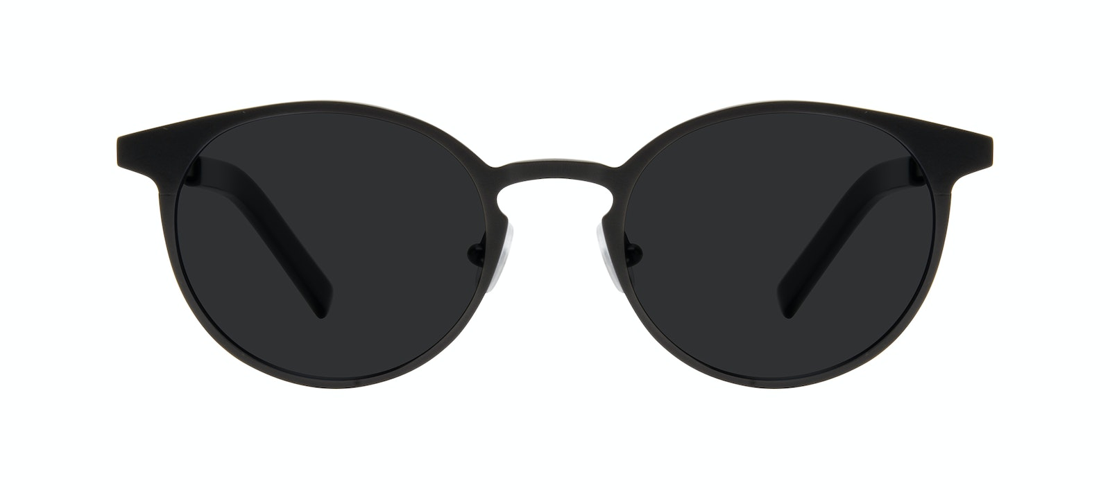 Affordable Fashion Glasses Round Sunglasses Men Cut Onyx Matte Front