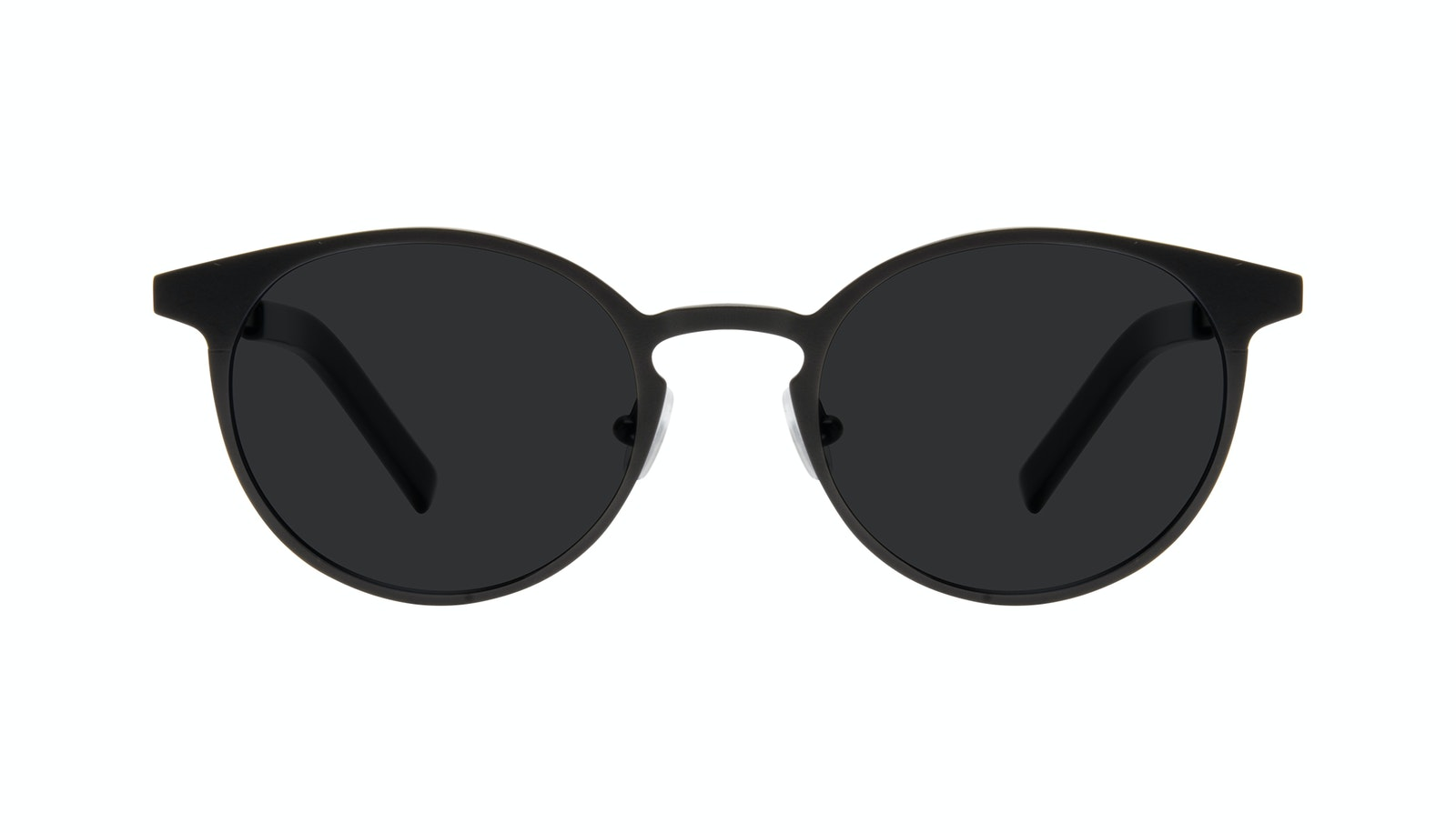 Affordable Fashion Glasses Round Sunglasses Men Cut Onyx Matte