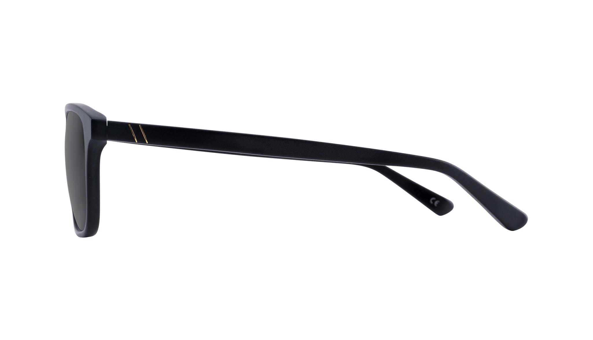 Affordable Fashion Glasses Rectangle Sunglasses Men Dare Matte Black Side