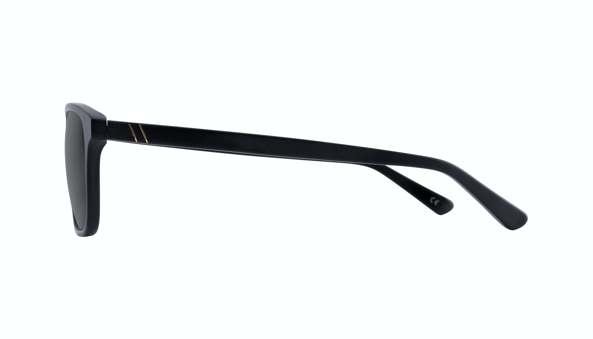Affordable Fashion Glasses Rectangle Sunglasses Men Dare Matte Black Side