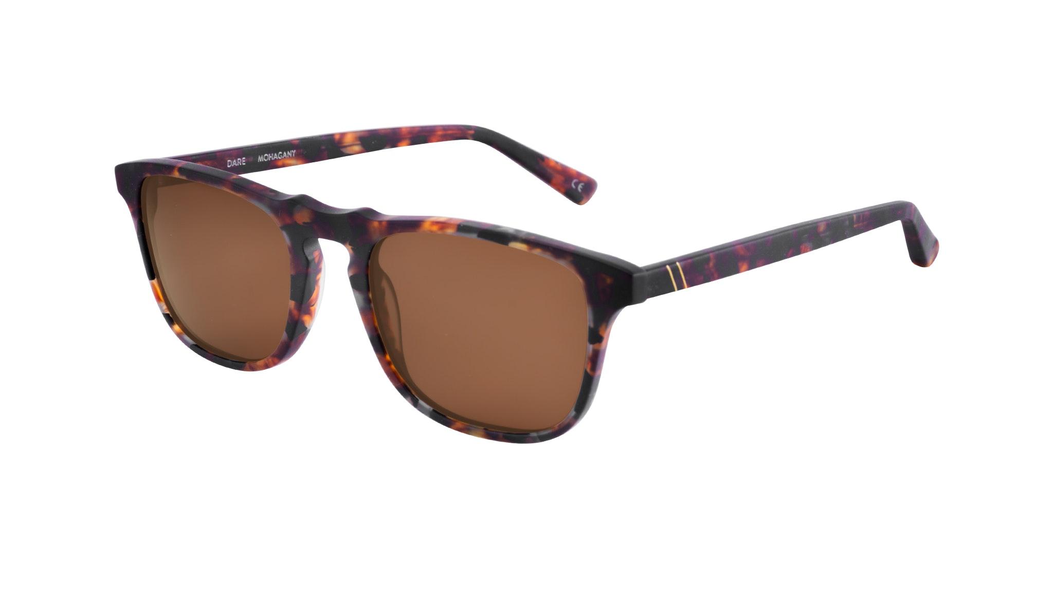 Affordable Fashion Glasses Rectangle Sunglasses Men Dare Mahogany Tilt