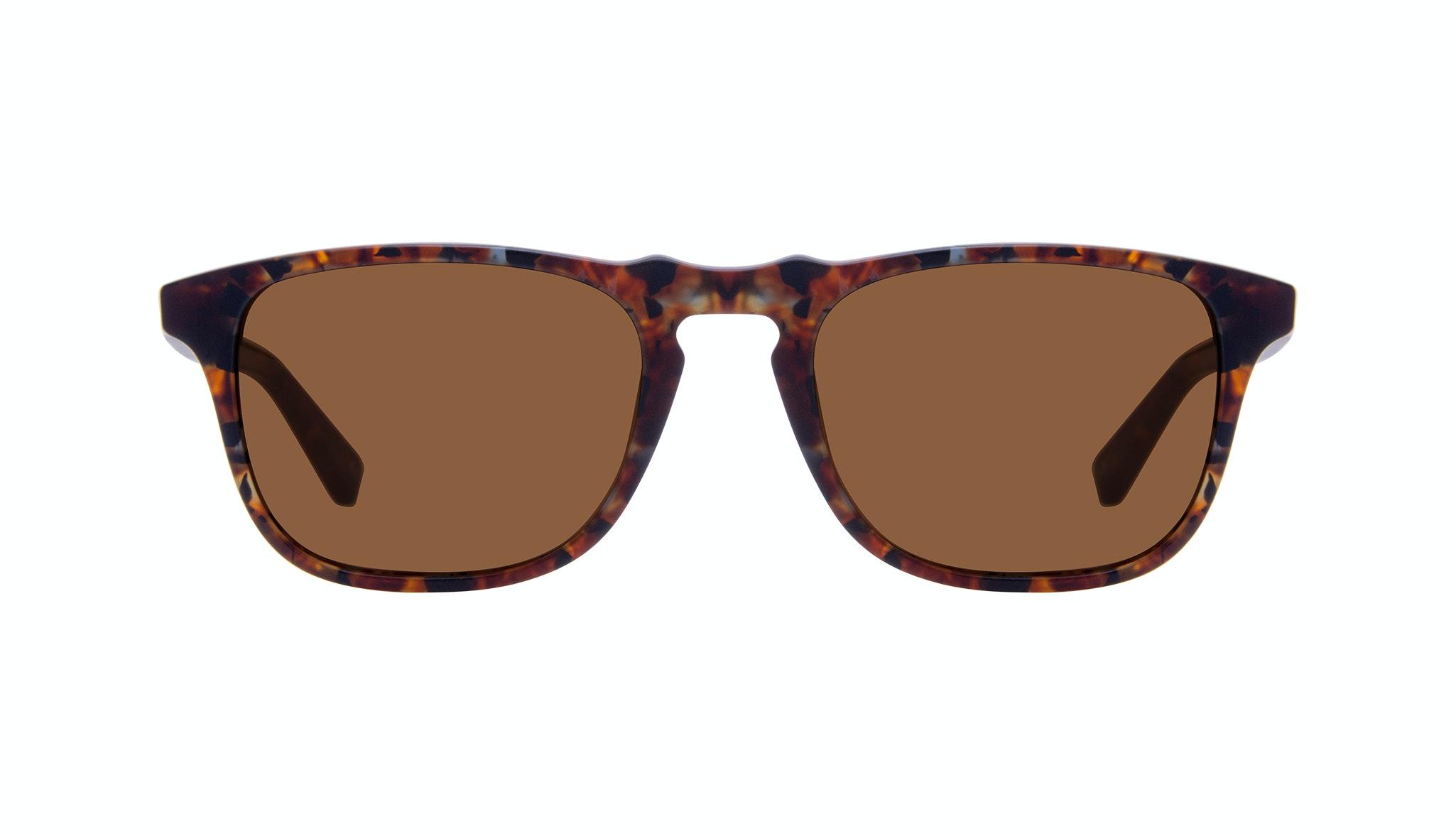 Affordable Fashion Glasses Rectangle Sunglasses Men Dare Mahogany Front