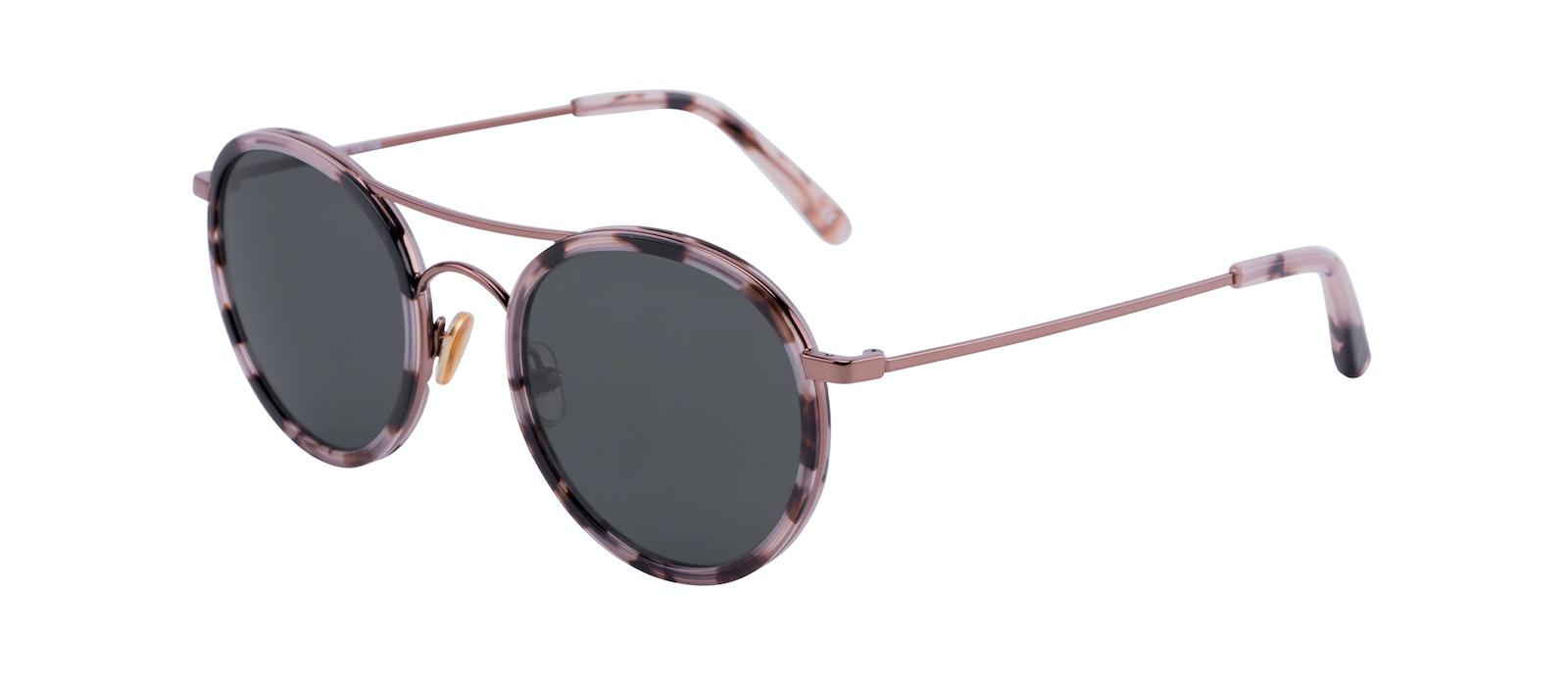 Affordable Fashion Glasses Aviator Round Sunglasses Women Dawn Pink Tortoise Tilt