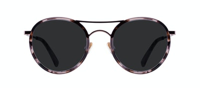 Affordable Fashion Glasses Aviator Round Sunglasses Women Dawn Pink Tortoise Front