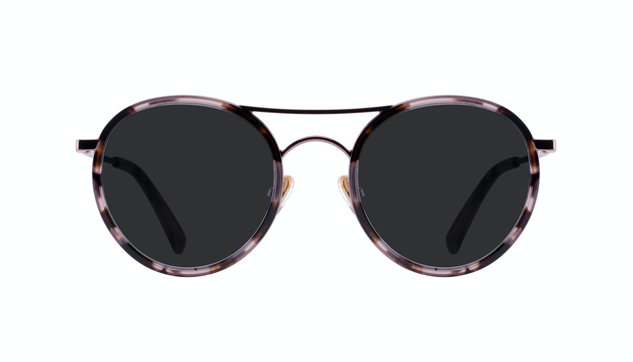 Affordable Fashion Glasses Aviator Round Sunglasses Women Dawn Pink Tortoise