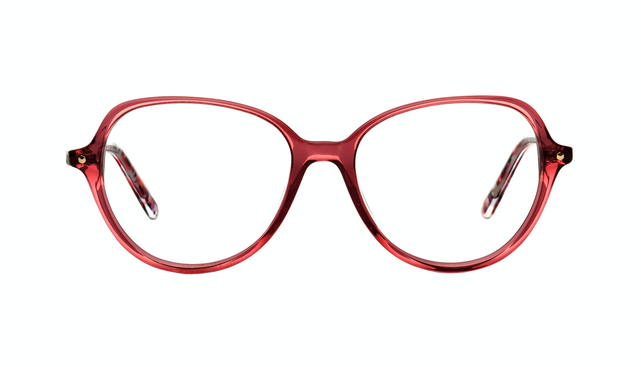 Affordable Fashion Glasses Round Eyeglasses Women Dazzle pink-berry Front