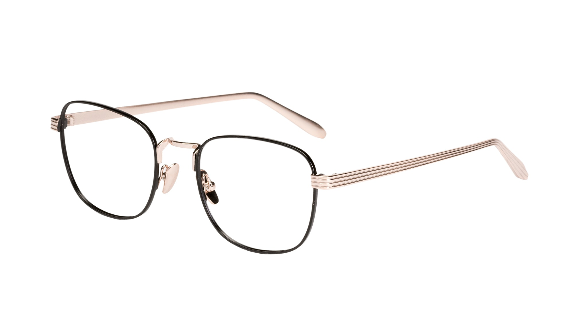 Affordable Fashion Glasses Rectangle Eyeglasses Women Delight Deep Gold Tilt