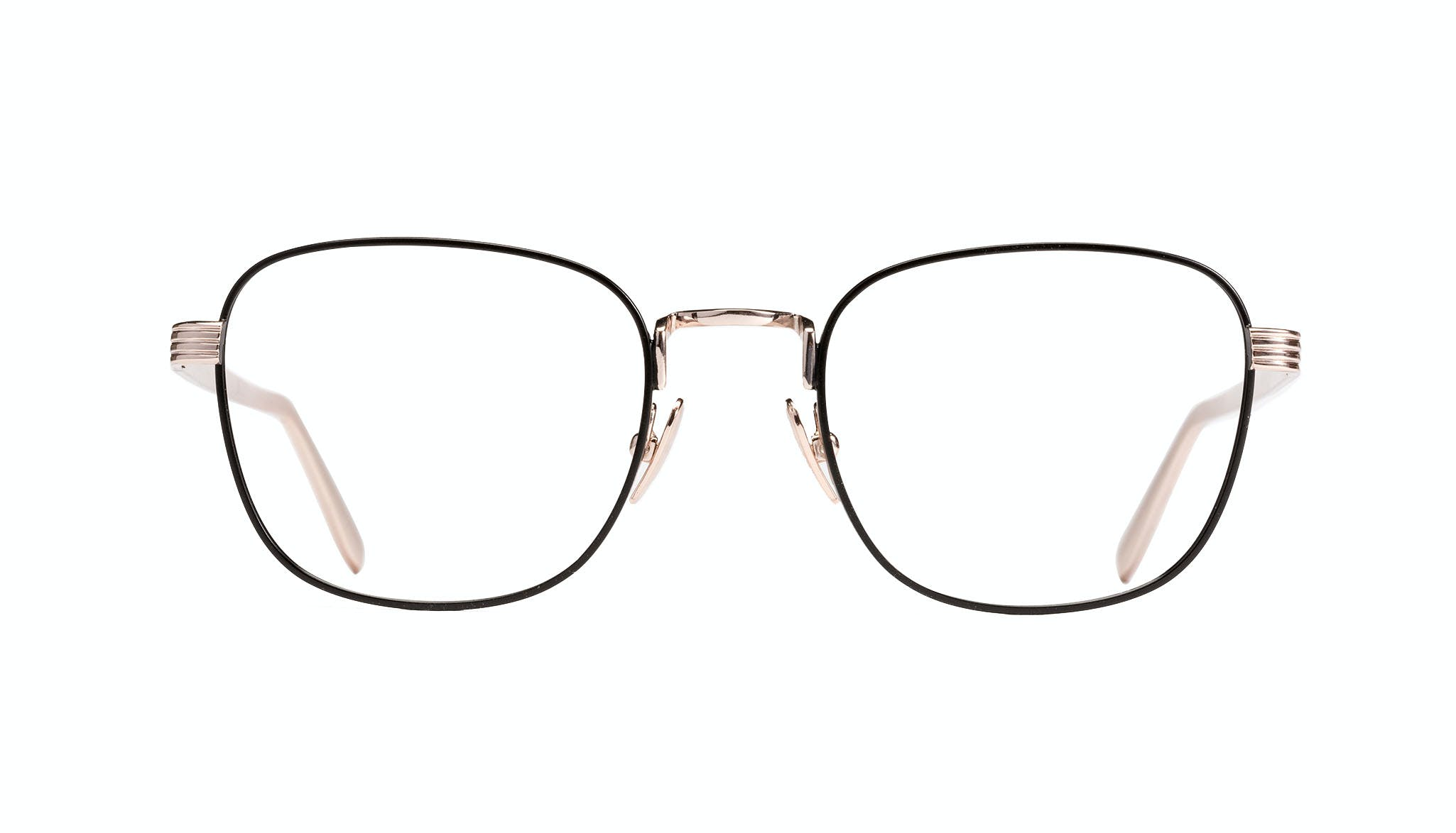 Affordable Fashion Glasses Rectangle Eyeglasses Women Delight Deep Gold Front