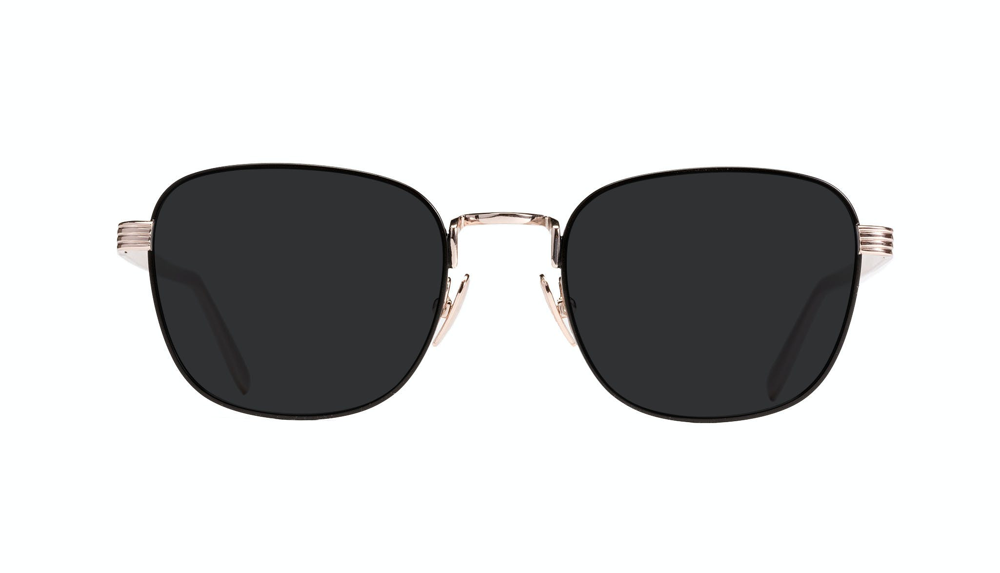 Affordable Fashion Glasses Rectangle Sunglasses Women Delight Deep Gold Front
