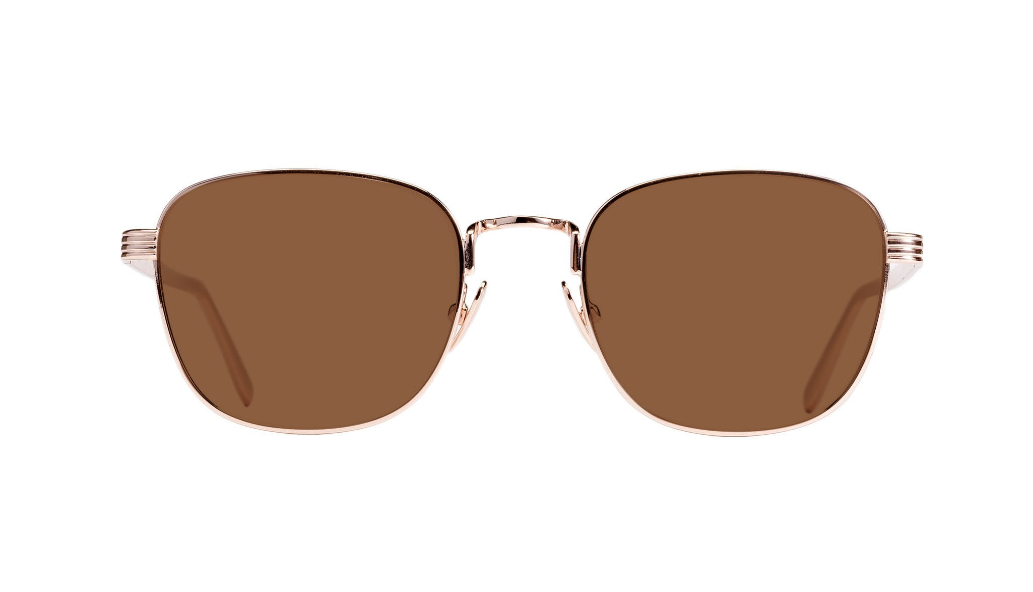 Affordable Fashion Glasses Rectangle Sunglasses Women Delight Gold Front