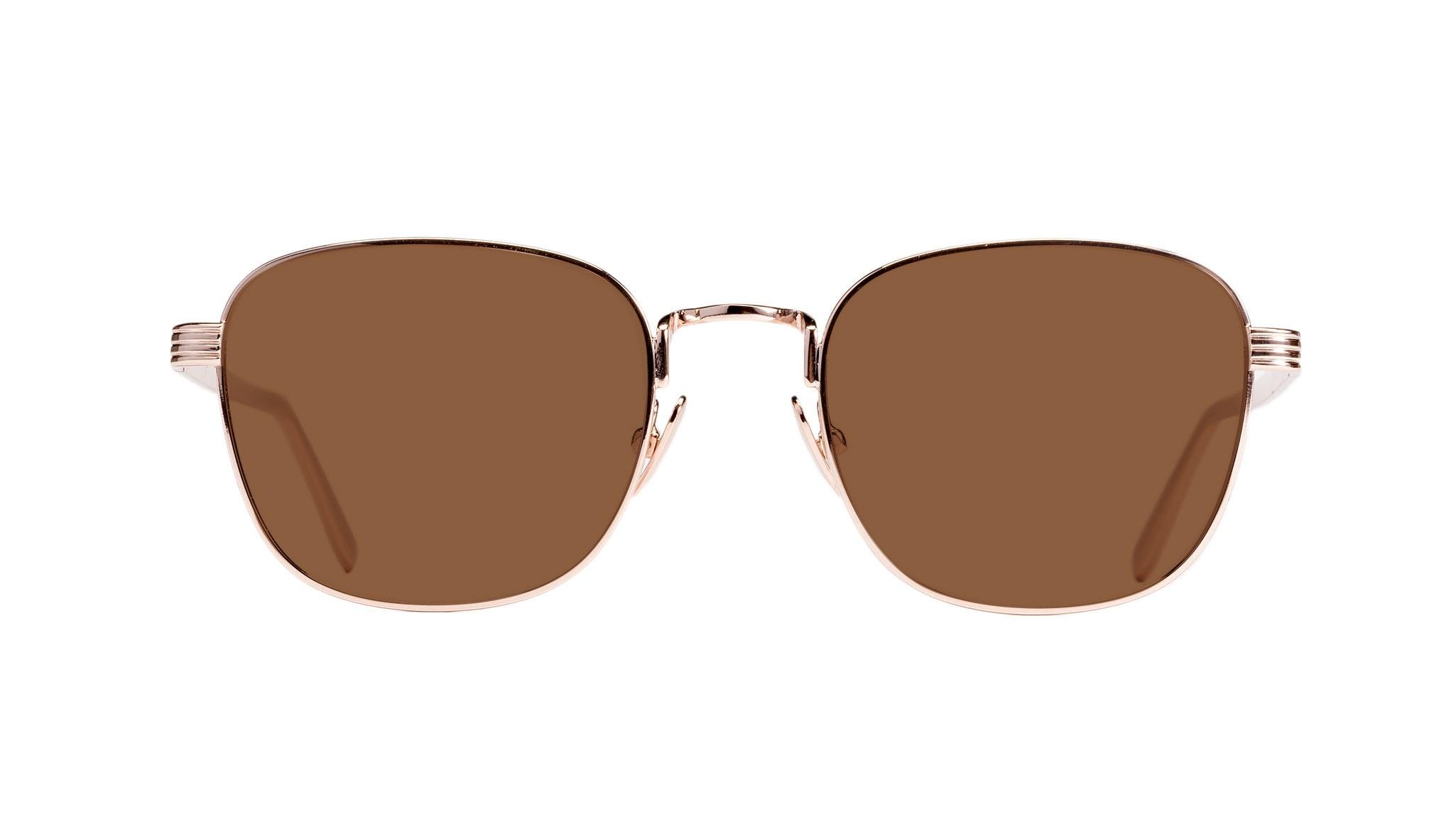 Affordable Fashion Glasses Rectangle Sunglasses Women Delight Gold