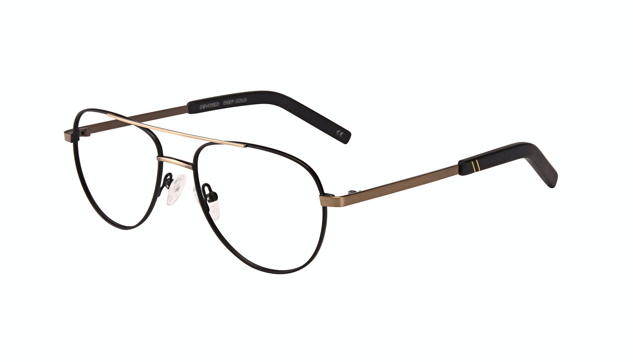 Affordable Fashion Glasses Aviator Eyeglasses Men Devoted Deep Gold Tilt