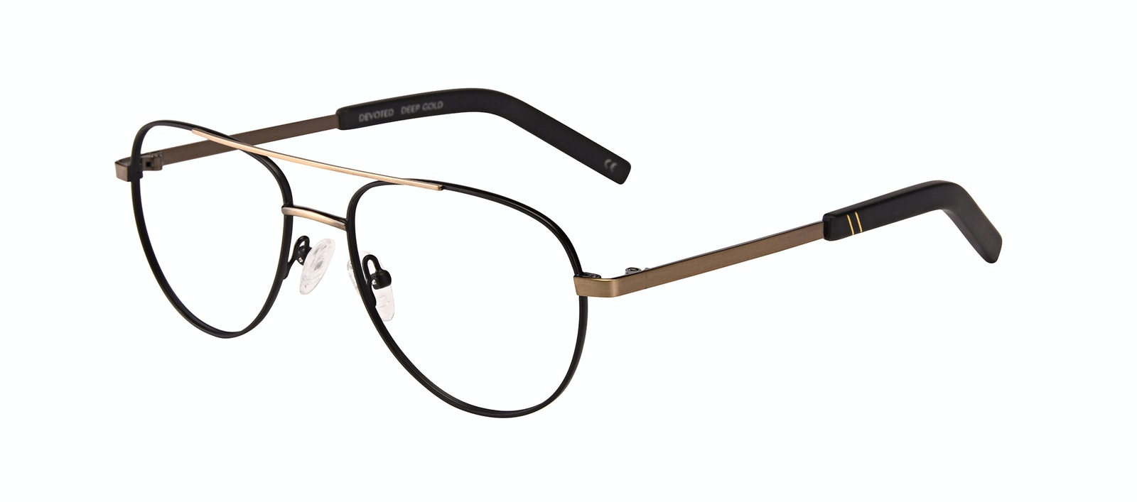 Affordable Fashion Glasses Aviator Eyeglasses Men Devoted Deep Gold Tilt